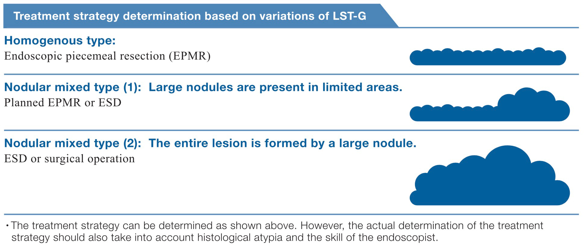 Treatment strategy determination based on variations of LST-G